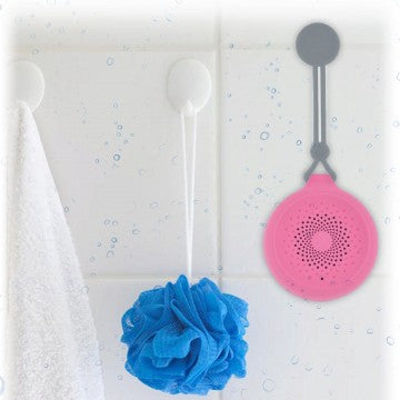 Pink AquaSound Rugged Bluetooth Shower Speaker