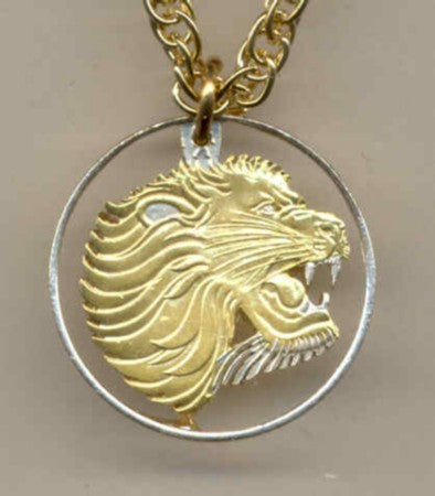 "Coin Jewelry - Ethiopia 25 cent ""Lion"""
