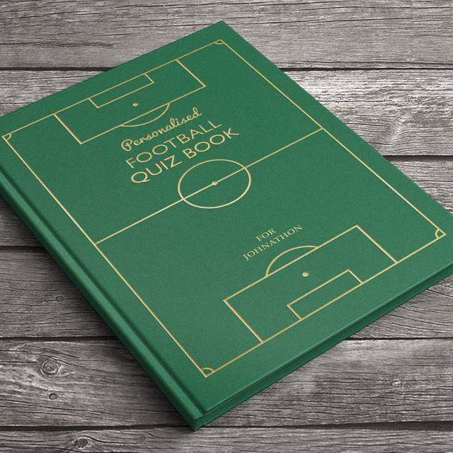 Personalized Soccer Quiz Book