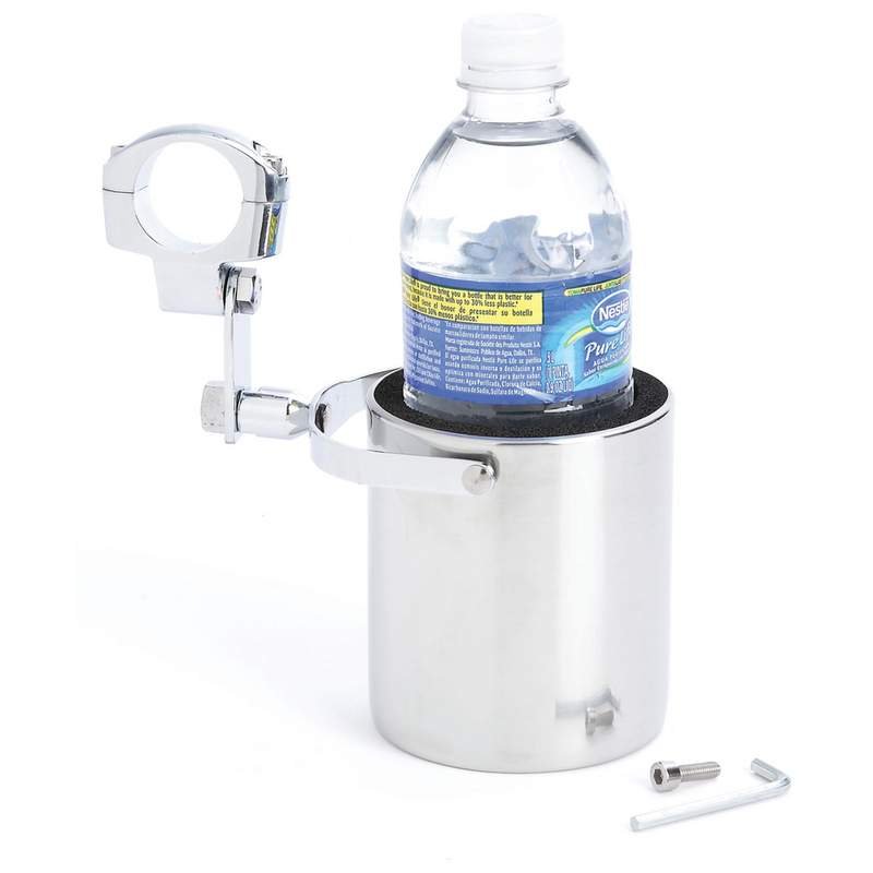 Motorcycle Cup Holder - Stainless Steel