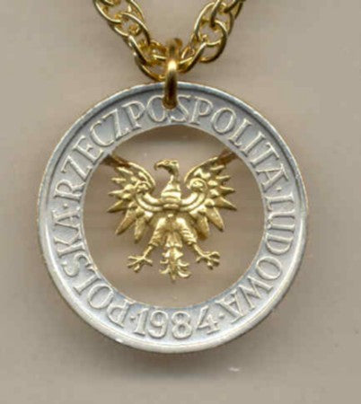 "Coin Jewelry - Polish 5 Zlotych ""Eagle"""