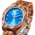 Custom Engraved Zebrawood Watch