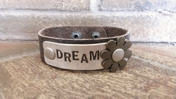 Leather Word Bracelets