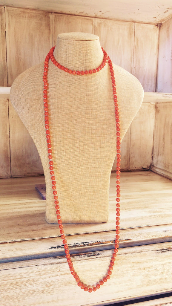 Knotted Orange Turquoise