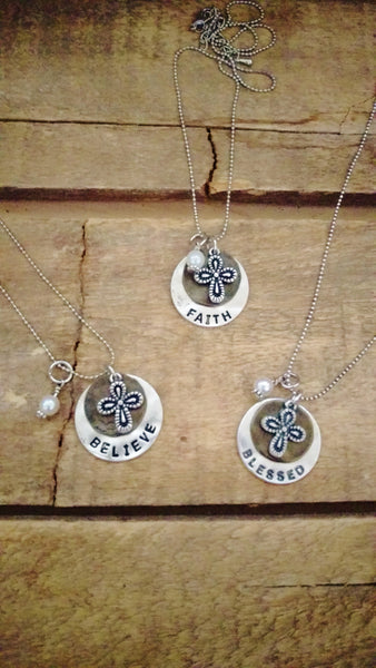 Believe, Blessed & Faith Stacked Necklaces