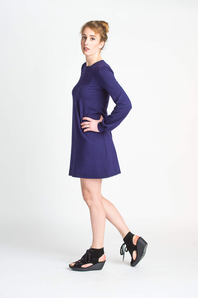 Duffield-Design-Cosmos-Iris-Blue-Dress-Left-Side