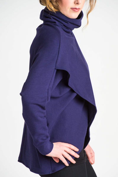 Duffield-Design-Crossover-Iris-Blue-Sweater-Detail