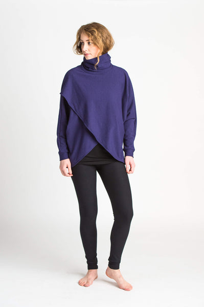 Duffield-Design-Crossover-Iris-Blue-Sweater-Front