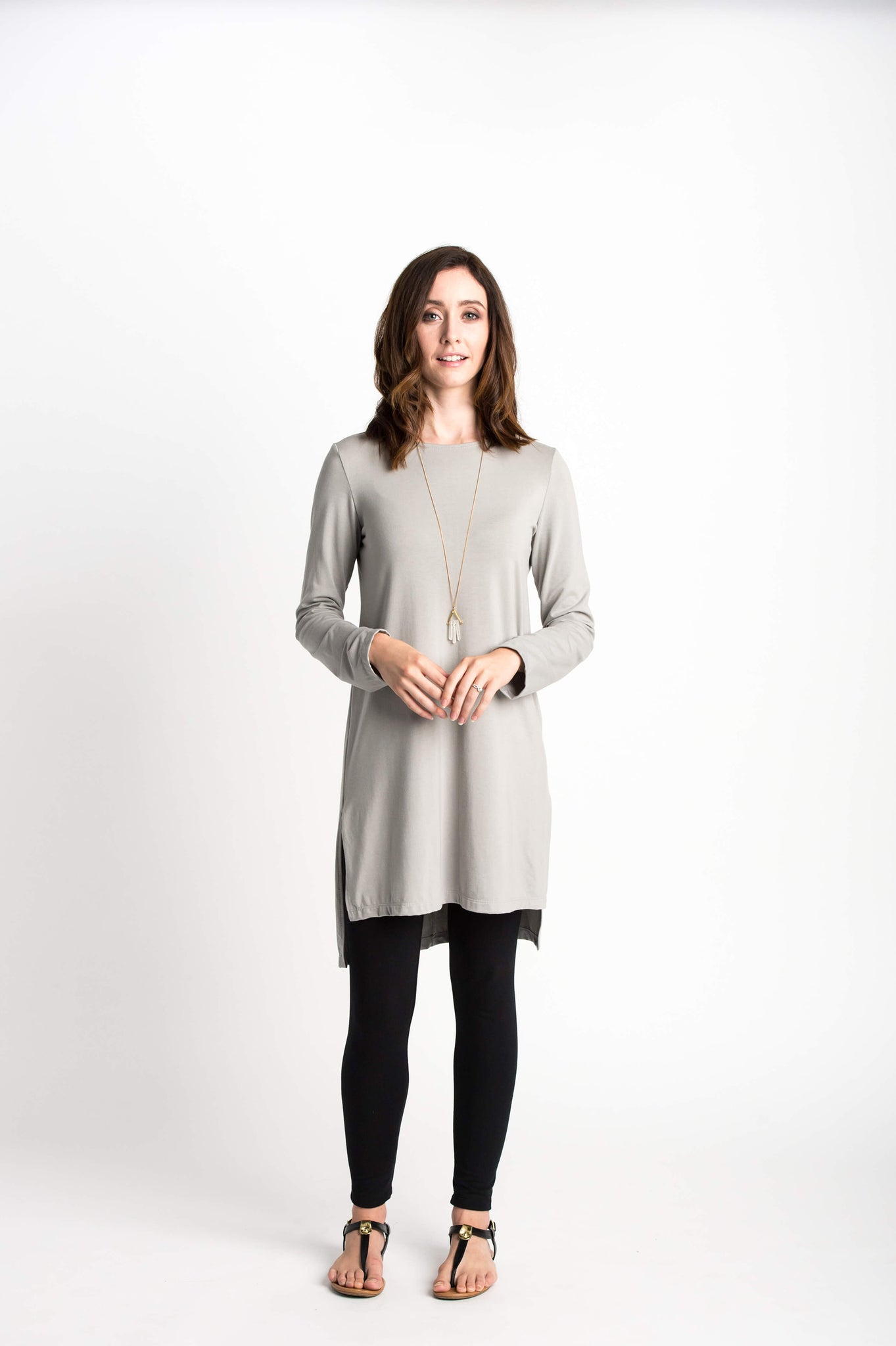 Meridian Tunic White / Light Grey