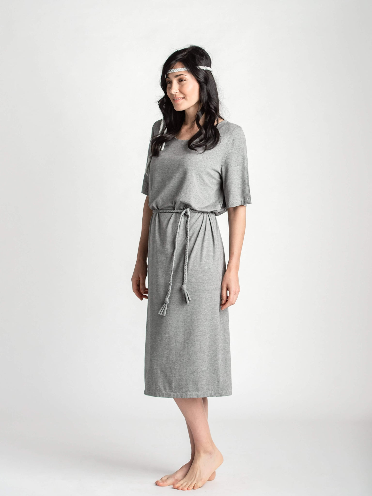 Sol Dress with Waist Knot Belt
