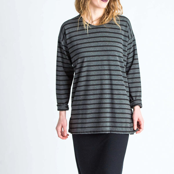 Duffield-Design-Soma-Black-Grey-Stripe-Top-Front