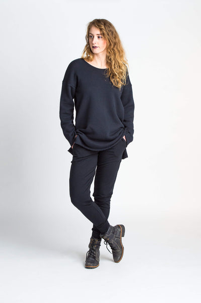 Duffield-Design-Soma-Black-Sweater-Front