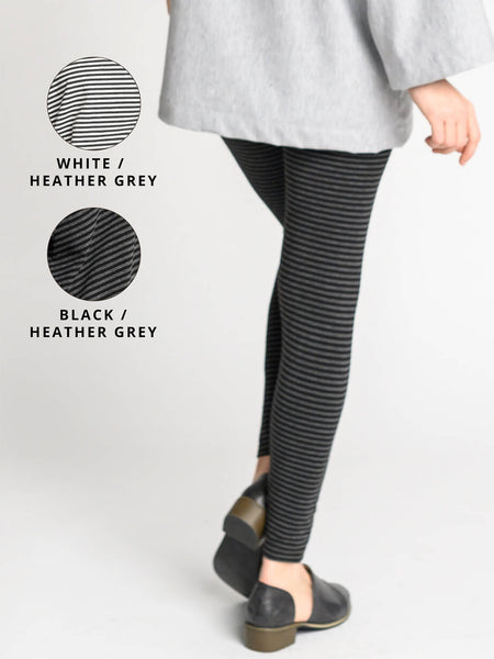 Heather grey/white and heather grey/black colour options for the Wide Waistband Leggings.