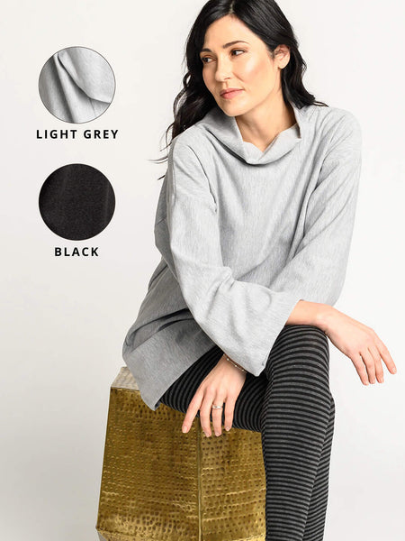 Light grey and black colour options for the Sierra Sweater.
