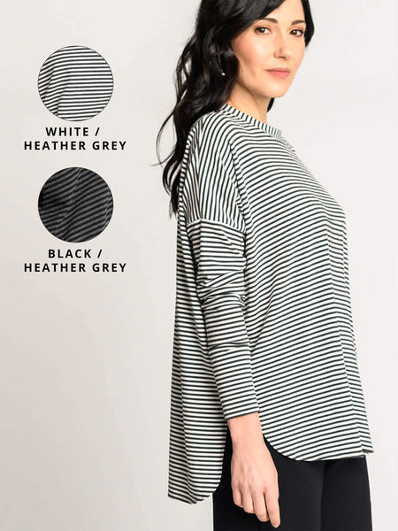White/heather grey and black/heather grey colour options for the Zen Top.