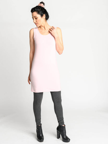The Tank Tunic has a long fitted body and scooped neckline and is the perfect transition piece.