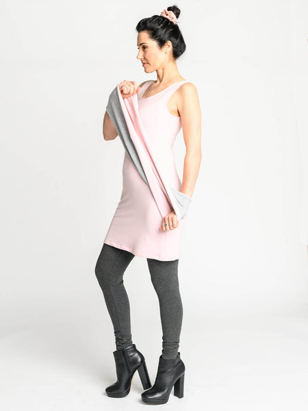 The Tank Tunic with a long fitted body and scoop neckline making it the perfect transition piece.