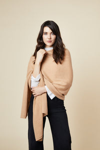 Cashmere Travel Wrap - Camel
