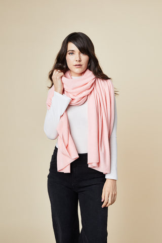 Cashmere Travel Wrap - Rose Pink