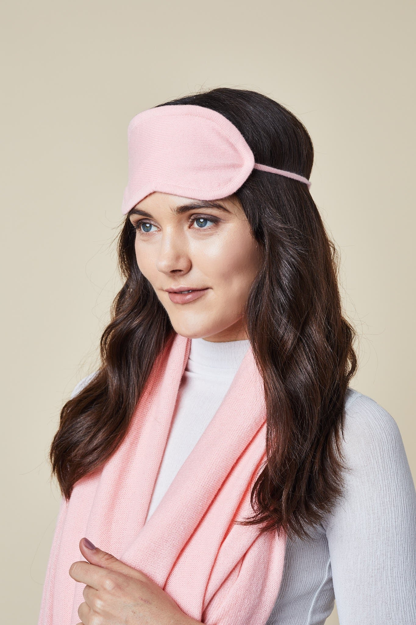 Cashmere Eye Mask - Rose Pink