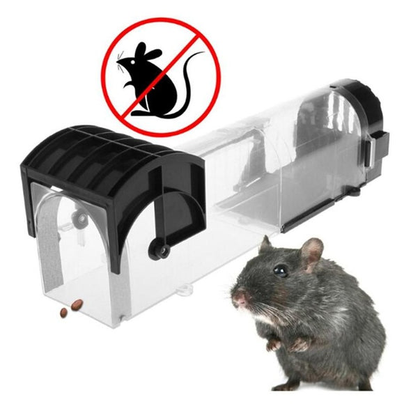 Abs Plastic Mouse Mice Rat Trap Cage Catch Control Bait Capture Rodent Animal
