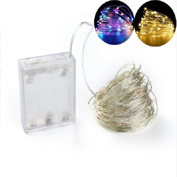 Led Indoor 3aa Battery Box Colorful Copper String Christmas Decoration 5 M 50 Lamp