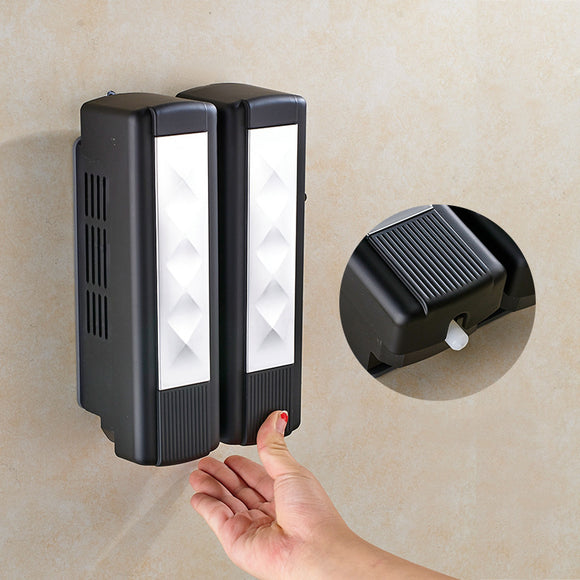 The Bathroom Wall-mounted Soap Dispenser Presses The Bath Box To The Soap Dispenser In The Bathroom