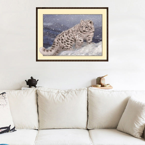 3d Diy Diamond Painting Animal Cross Stitch Leopard Painting Crafts Ornaments