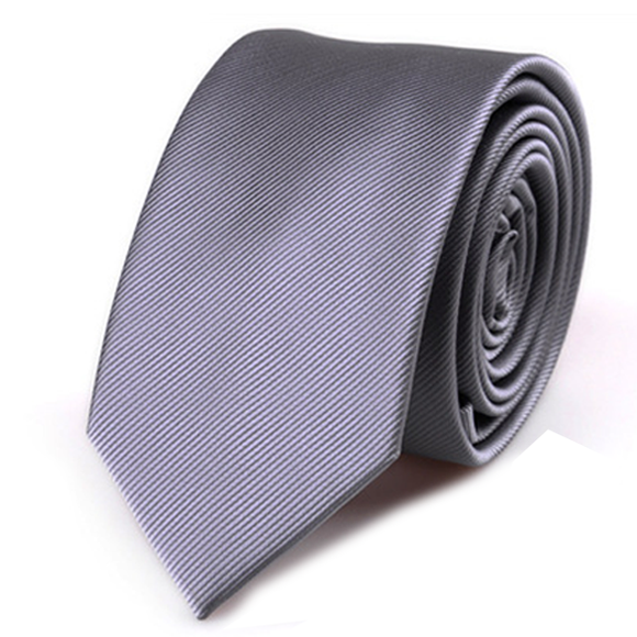 6cm Tie Fashion Solid Color Tie Wedding Party Accessories Gift For Men