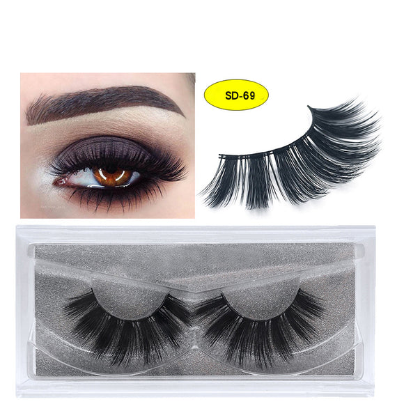 A Pair Of Soft With Slender And Thick False Eyelashes