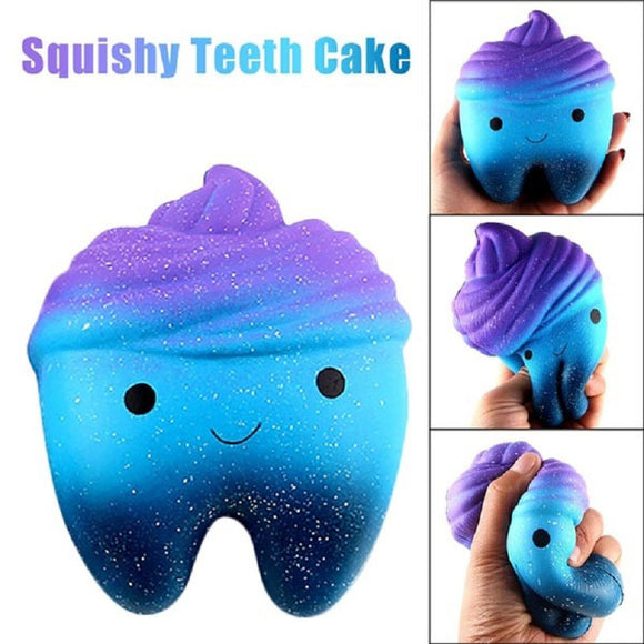 Lovely Scented Squishy Slow Rising Squeeze Simulation Tooth Toy Anti Stress Soft Toy Gifts