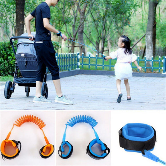 NEER 1.5m Child Safety Wristbands Baby Child Anti-lost Wrist Leash Toddler Kid Link Traction Rope