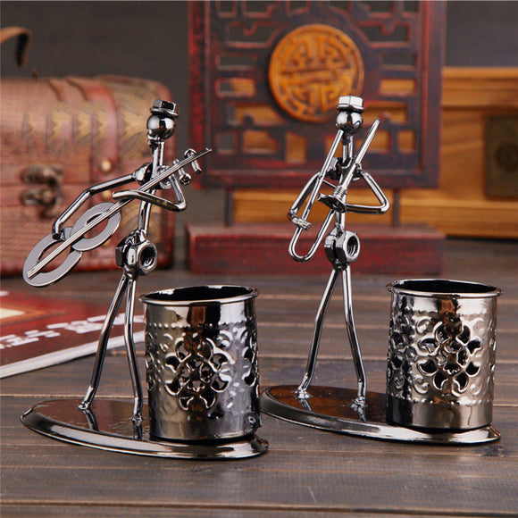 Metal Wrought Iron Band Pen Holder Personality Fashion Home Decoration Art Crafts