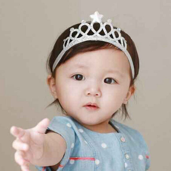 New Crown Stars Hairbands Kids Headwear Children Headbands Elastic Hair Band Kids Birthday Party