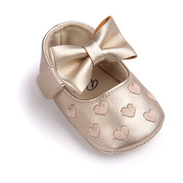 0c7a835ecceda -77% NEER Big bow embroidery love pu leather baby girl non-slip soft soled  shoes for