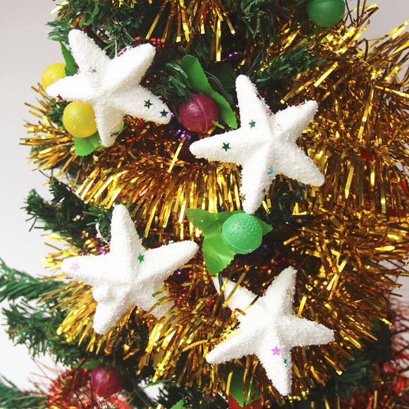 6PCS Christmas Bubble Ball Five-pointed Star Exquisite Christmas Day Decoration Accessories