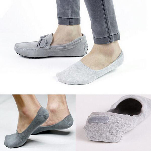 1 Pair Men Casual Socks Cotton Socks Brief Invisible Slippers Male Shallow Mouth No Show Sock