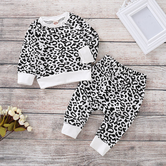 Kids Top&Pants Set Leopard Print Clothes