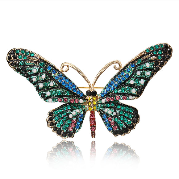 Ladies Brooch Jewelry Alloy Butterfly Drill Brooch
