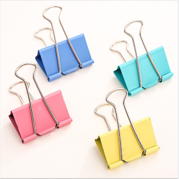 48pcs Colorful Long Tail Clip Ticket Holder 25mm Dovetail Clip School/office Supplies