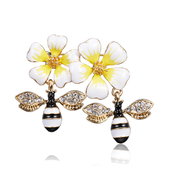 Fashion Two Bee Animal Brooch Clothing Accessories