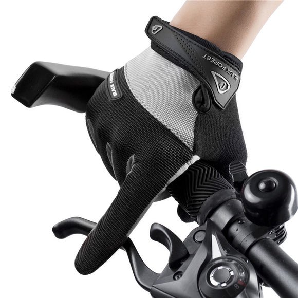 Outdoor Sports Riding Touch Screen Full Finger Gloves Non-slip Shock Absorption Wear Gloves
