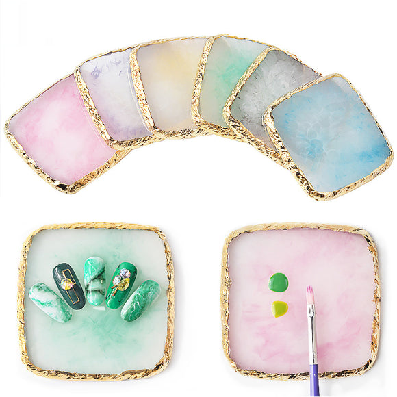 Resin Agate Nail Painting Color Palette Nail Piece Display Board