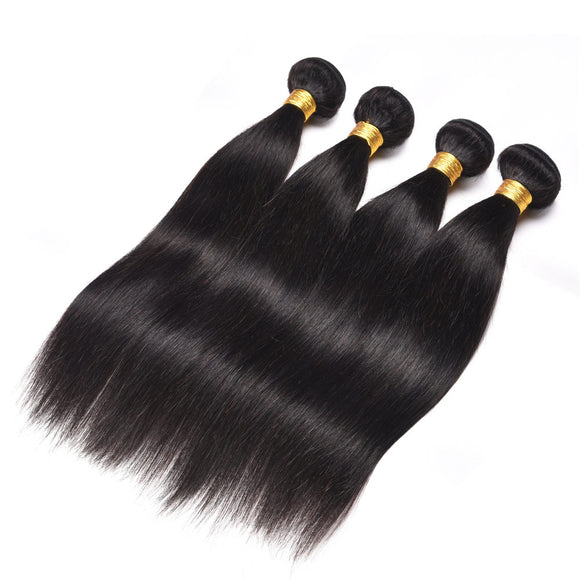 16 Inch 100% Human Hair Black Straight Hair Weave