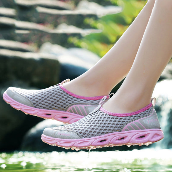 Women's  Lightweight Single Mesh Breathable Shoes Outdoor Sports Shoes