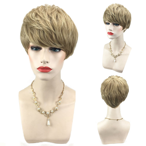 Short Side Bang Layered Brief Hairstyle Synthetic Wig