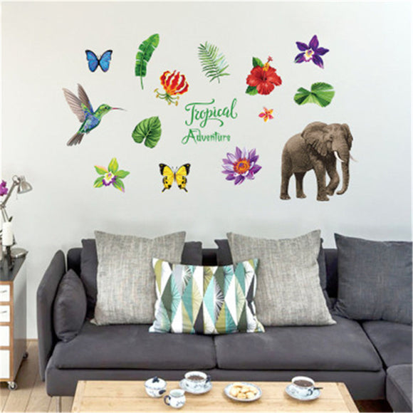 Creativity Tropical Animals And Plants Wall Sticker Home Decoration