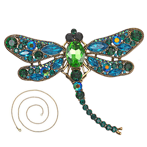Lady Retro Insect Dragonfly Brooch Coat Jewelry Pendant