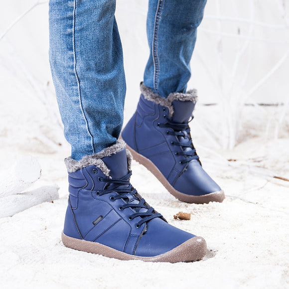 Unisex Anti-skid Thickening Warm Leather Snow Boots