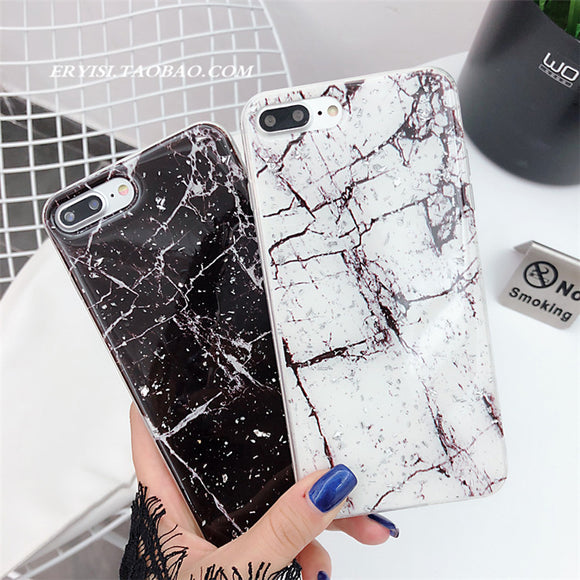 Fashion Marbling Soft Shell Phone Case For Iphone